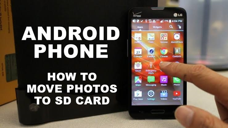 How to move pictures to sd card