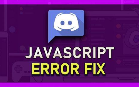 How to fix a discord fatal JavaScript error